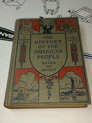 Vtg 1926 The History of the American People 1926 Beard and Bagley Illus HC