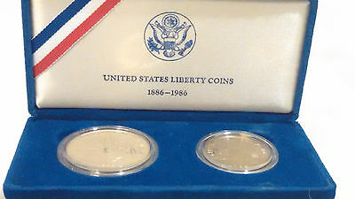 1886-1986 United States Liberty Coins Proof Set w/box & COA