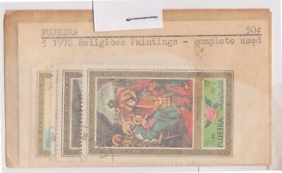 (V1-64) 1972 FUJEIRIA old stamps pack 4 stamps paintings (BM)