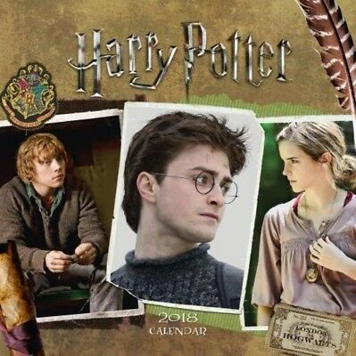 Harry Potter Official 2018 Square Wall Calendar Hermione Ron Magic BRAND NEW UK