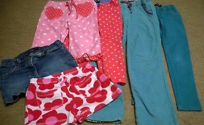 bundle Mini Boden girl 6-7 years trousers shorts blue pink floral spotted red
