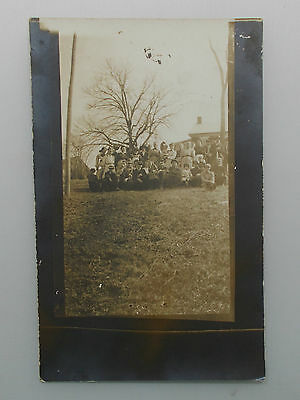 Vintage Rppc Large Group Of People / Family ~ Boiling Springs, Pa 1912 Postcard