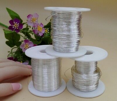 1 Yard 99.99% Real Pure Silver Thread Beading DIY Craft Jewellery Making Wire