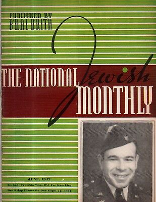 1942 National Jewish Monthly June - Hitler came to Orsha; Jewish Soviet heroes