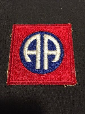 WW2 Army 82nd Airborne Division PATCH Original Worn Shoulder Sleeve Insignia