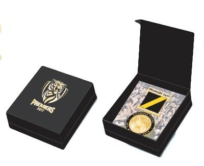 Richmond Tigers AFL Premiers 2017 Medal Badge with Ribbon Collectors Boxed