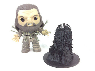 Game Of Thrones Iron Throne Desktop Business Card Smart Phone Holder 3D Print