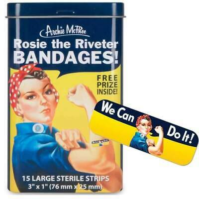 Rosie The Riveter Band Aids Kitsch Unique Gift Joke Novelty Bandages Plasters