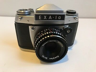 Vintage Exa 1a German SLR Camera Meyer Domiplan Lens and Case
