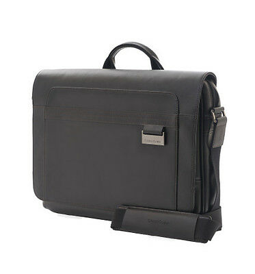 Samsonite Savio Leather IV Messenger Bag Black