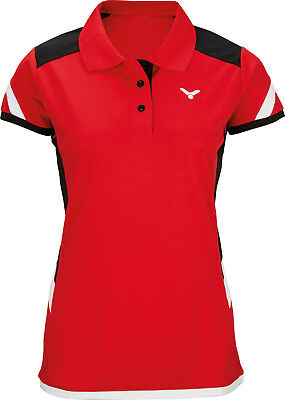 VICTOR Polo Function Female red 6717 Badminton Tennis Squash Trikot