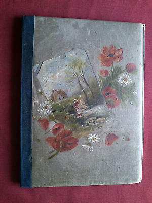 ANTIQUE LATE 19th/EARLY 20th ORIGINAL PAINTING (UNSIGNED) ON HAND CASE