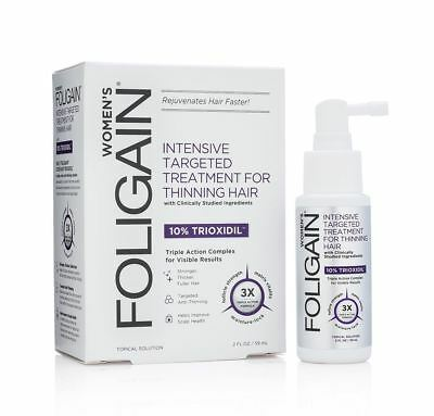 Foligain Hair Regrowth Treatment For Women With 10% Trioxidil 59ml/2 Oz
