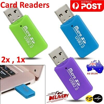 Micro SD Card Reader SDHC TF M2 T Flash To USB 2.0 Mini Adapter For Laptop NEW