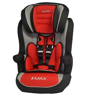 Nania I-Max Group 1/2/3 9 to 36kg Baby Child Car Seat Booster Agora Carmin Red