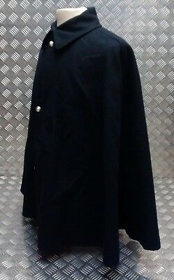 Genuine British Army Bandsman Cape Dark Blue / Like Police Cloak - With Buttons