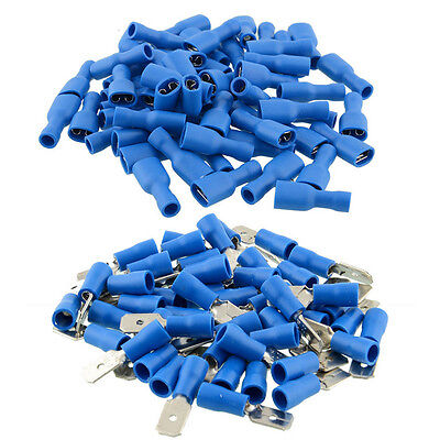 100Pcs 50 Pairs Female Male Terminals Insulated Spade Electrical Wire Connectors