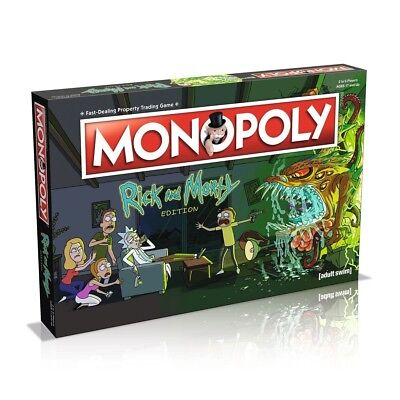 Rick And Morty Monopoly Board Game Brand New Gift