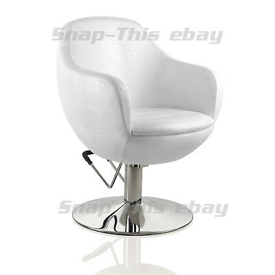 Salon White Chair Hairdressing Tattoo Threading Shaving Barber Styling Beauty