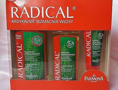 PL/ Farmona Radical Shampoo+Spray/Mist+Serum/ Fragile,Brittle,Weak Hair