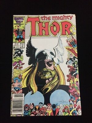 MARVEL COMICS THE MIGHTY THOR # 373 NOV 1986  Anniversary Cover Issue