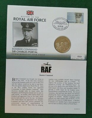 2008 history of the royal air force bomber command £5 coin cover