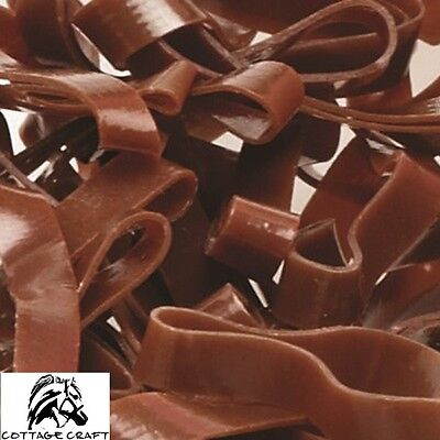 Cottage Craft Magic Plaiting Bands 500 - SILICONE - Super Stretchy - BROWN