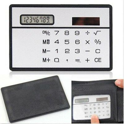 Portable Ultrathin Mini Wallet Calculator Mini Card Size Solar Power Calculator