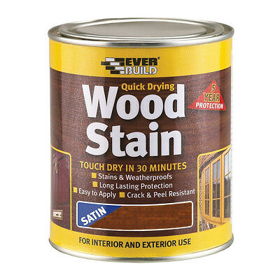 Everbuild Wood Stain 250ml | Indoor and Outdoor | Quick Drying | All Colours