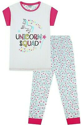Girls Super Cool Unicorn Squad Long Pyjama Set 9 to 14 Years