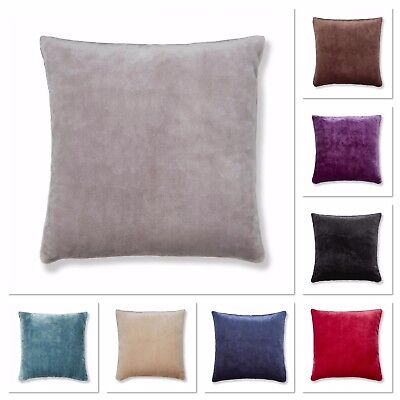 Catherine Lansfield Plain Raschel Cushion Covers 8 Available Colours