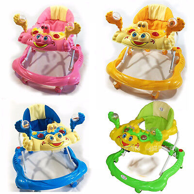 Baby Walker First Steps Activity Bouncer Musical Toy New Push Along Pink Ride On