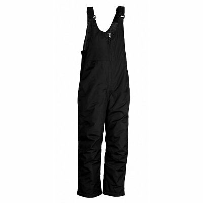 White Sierra Black Insulated Ski Snow Bibs Pant or Overalls Youth Large 14/16