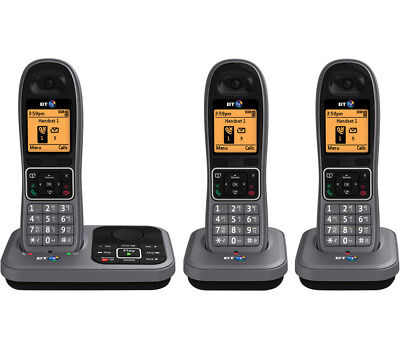 BT 7610 Cordless Phone with Answering Machine - Triple Handsets - Currys