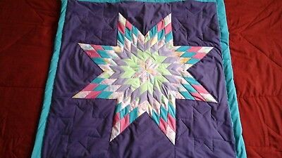 Multicolored  star authentic  native american baby star quilt Purple