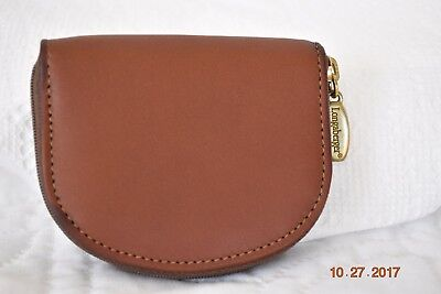 Longaberger Country Estates Leather Zip Coin Purse Box and P Card RARE *NEW*