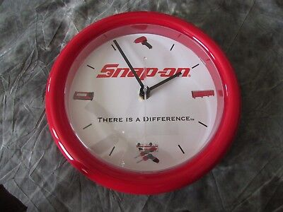 """NEW Snap On Tools 8 1/2"""" Battery Operated Clock  (There Is A Difference) USA"""