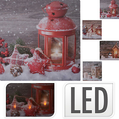 led bild leinwandbild weihnachten christmas rote kerzen und flackerlicht eur 7 95 picclick de. Black Bedroom Furniture Sets. Home Design Ideas