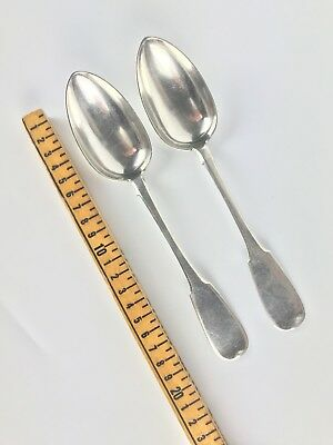 """8.3"""" Large Antique Pair of Russian 84 Silver Spoon 137g"""