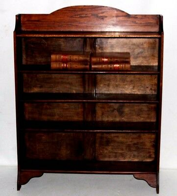 Vintage Oak Bookcase Display Shelving Unit - FREE Shipping [PL4045]