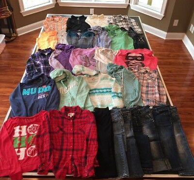 Huge Lot Fall/Winter Clothes Girls Size 14 Juniors XS Mudd Aeropostale EXCELLENT