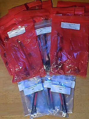 Bridge Wire Kits, AWG 6, Red / Black; Mixed Lot: 17 NEW
