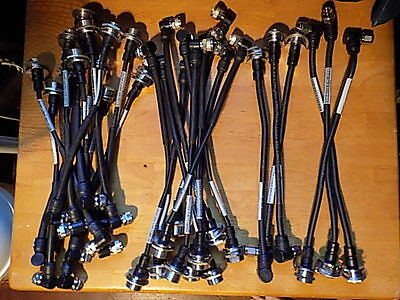 """Corrugated Coax Jumper Cables, 1"""" M to 5/8"""" F; 1/4"""" and 3/8"""" diam, Mixed Lot: 28"""