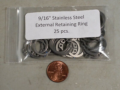 "9/16"" 15mm External Stainless Retaining Snap Ring MMCC 471 A4 15 - 25 pc."