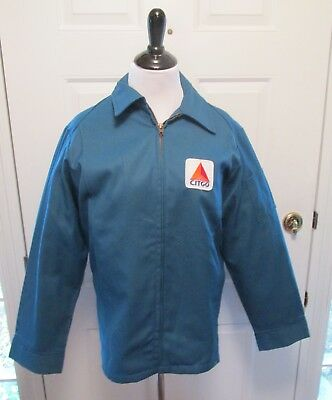 VTG CITGO  Gas Service Station Attendant Uniform Jacket Coat  Uniform NOS 40R