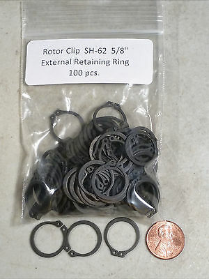 "5/8"" External Retaining Rings ROTOR CLIP SH-62ST 100 pc."
