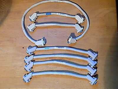 Dual M-F Screw-Mount Jumper Cables; Mixed Lot: (7) Lightly Used