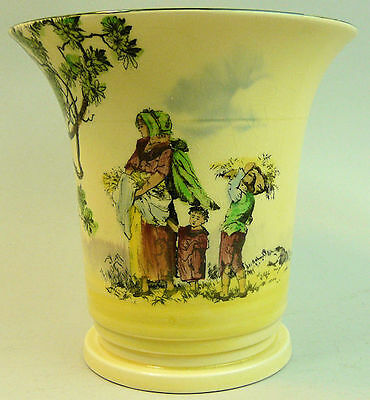 ROYAL DOULTON ART DECO SERIES WARE POTTERY VASE 'THE GLEANERS'  1930's