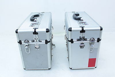 Motorcycle Aftermarket Silver Saddle Bag Bags Luggage Carrier Briefcase