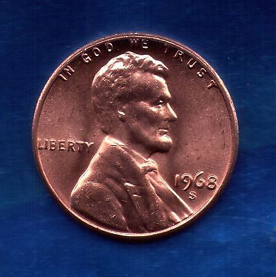 1968 S Penny>>UNC<>SELL-OFF<>Slot Filler or Starter Coin  (68S1106)